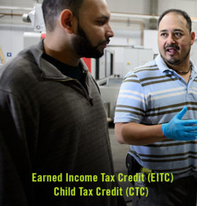 EITC: Tax credit and refund for low- and moderate-income workers (even those making less than $11,000 a year). CTC: Tax credit and refund for families to offset the expenses of raising children.BENEFIT:EITC: Refunds as large as $4,000.CTC: Can be worth as much as $1,000 per child.