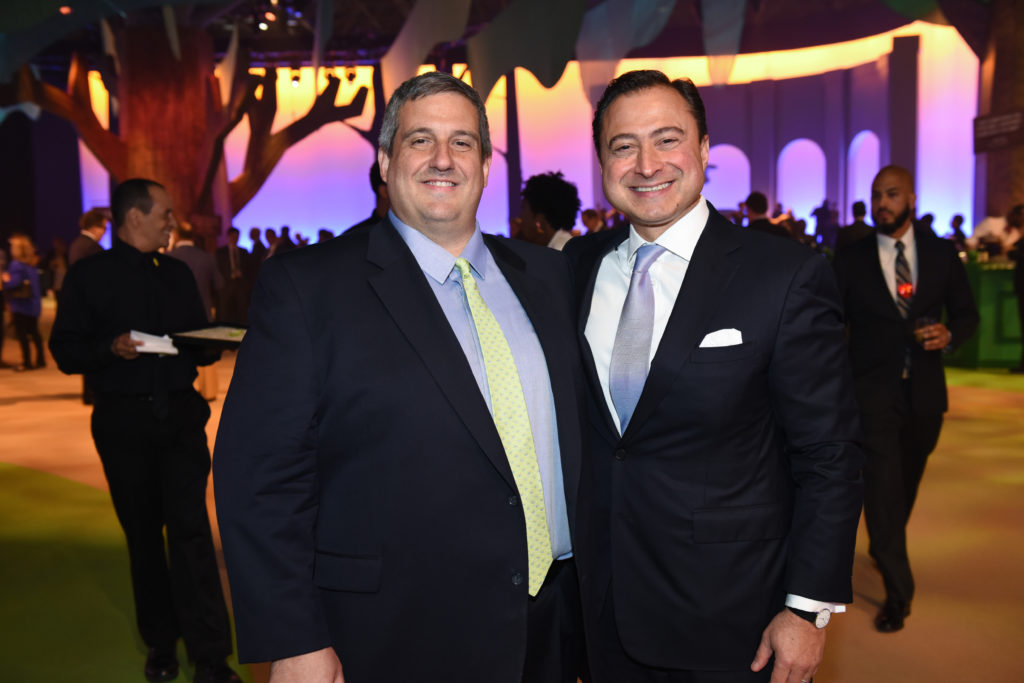 Larry Robbins, Robin Hood board chair, and Alex Navab, benefit co-chair